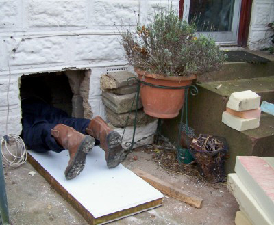 Insulating under the floor